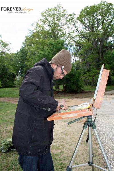cindy barganier paints with james sampsel