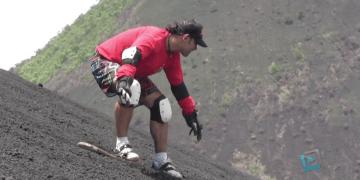 Sandboarding in Nicaragua