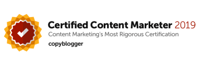 Content Marketer Certification badge - copywriter