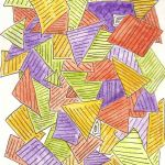 drawing of a multicolor collage