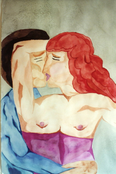 Painting of a man and a woman