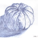 drawing of a gourd