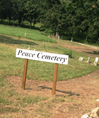 geocaching Peace Cemetery Sign e2