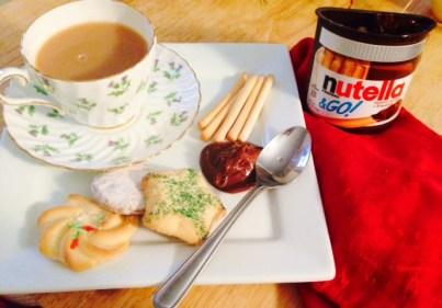 Christmas tea nutella
