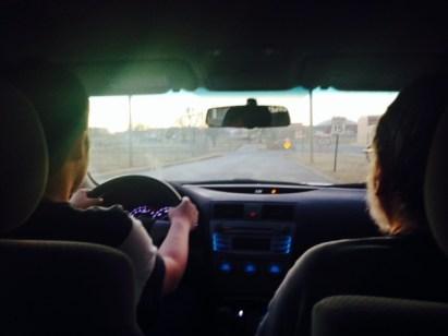 dayan drives with papa