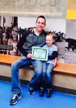 Aubrey soars with dad
