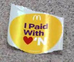 Pay with Love sticker