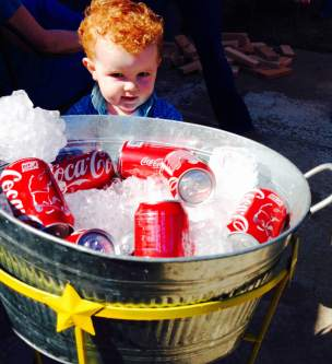 Westons second birthday cold drinks