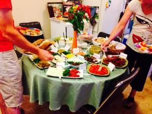 Cates birthday food table