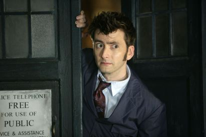 David Tennant Dr Who tardis