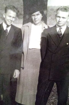 Bob Moore with mom and brother Bill