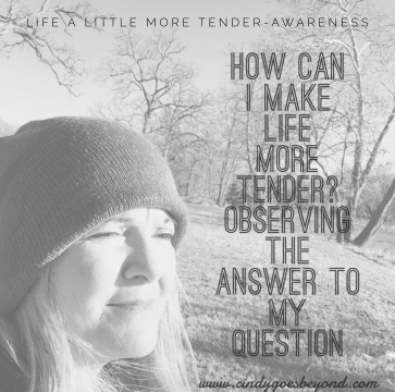How can I make life a little more tender?