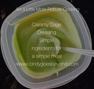 Creamy Sage Dressing