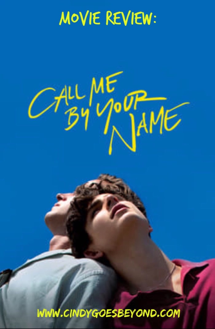 Movie Review Call Me By Your Name