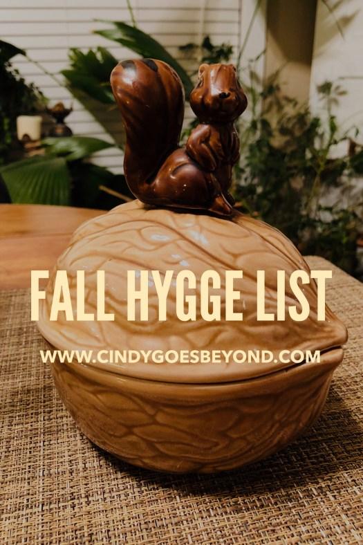 Fall Hygge List