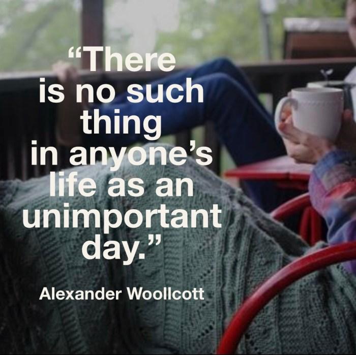 No Unimportant Days
