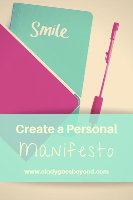 Create a Personal Manifesto