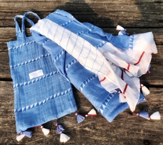 Mer-Sea & Co Cotton Tassel Wrap