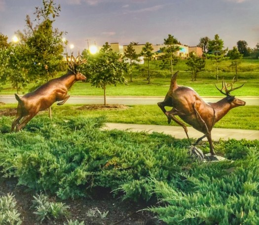 Whitetail Deer Sculptures at Mercy Park