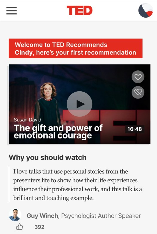 Week One Celebrations TED Talk