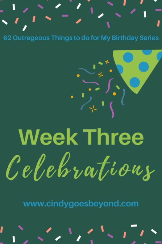 Week Three Celebrations title meme