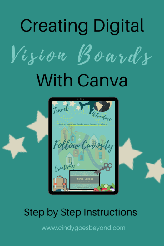 Creating Digital Vision Boards with Canva title meme