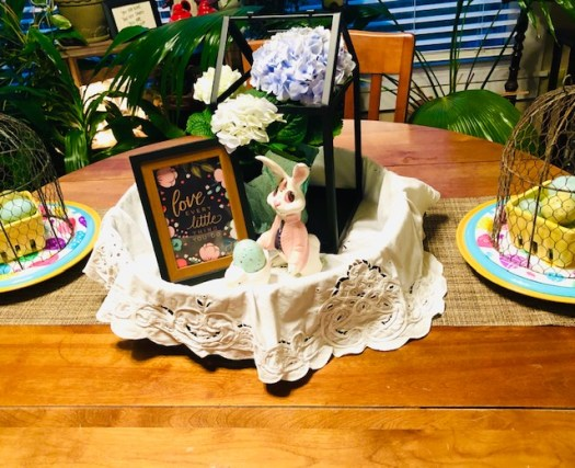 Decorating for Easter with Vintage Pieces and Decocrated table