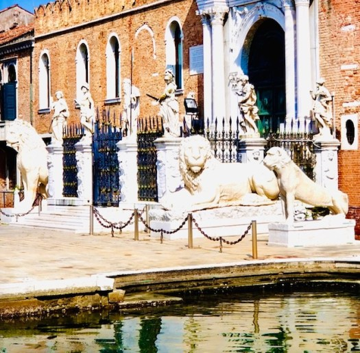 Lions of Venice arsenal