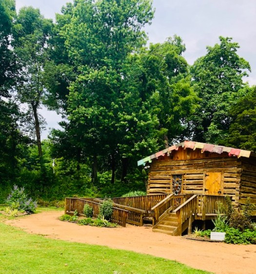 Philbrook Museum Gardens cabin