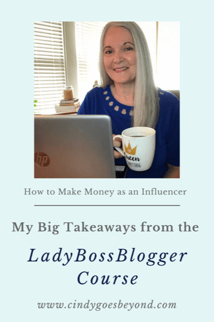 My Big Takeaways from the LadyBossBlogger Course title meme