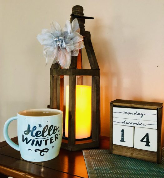 Christmas Wonderland with Decocrated wooden lantern
