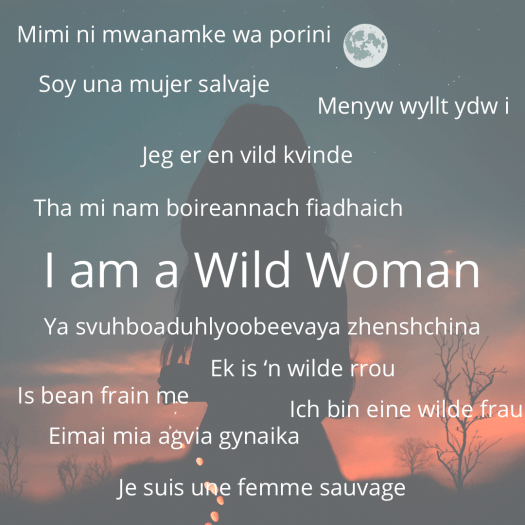 Welcoming a New Year wild woman