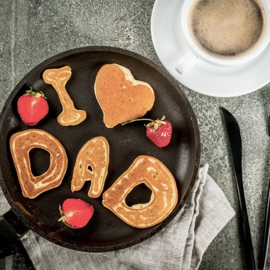 Breakfast in bed for dad