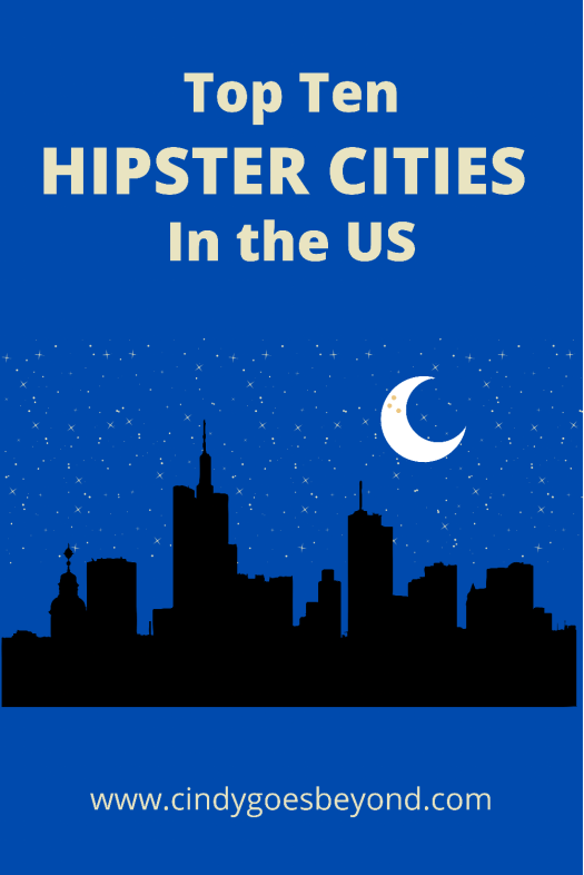 Top Ten Hipster Cities in the US title meme