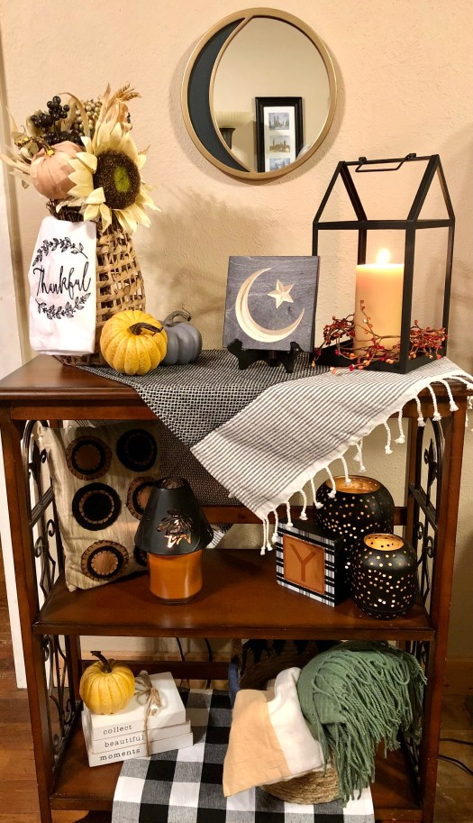 Welcome to Fall with Decocrated shelves