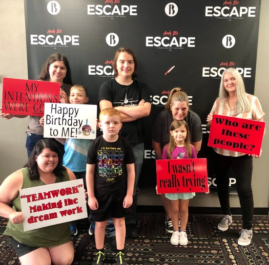 Andy Bs Space Odyssey Escape Room group