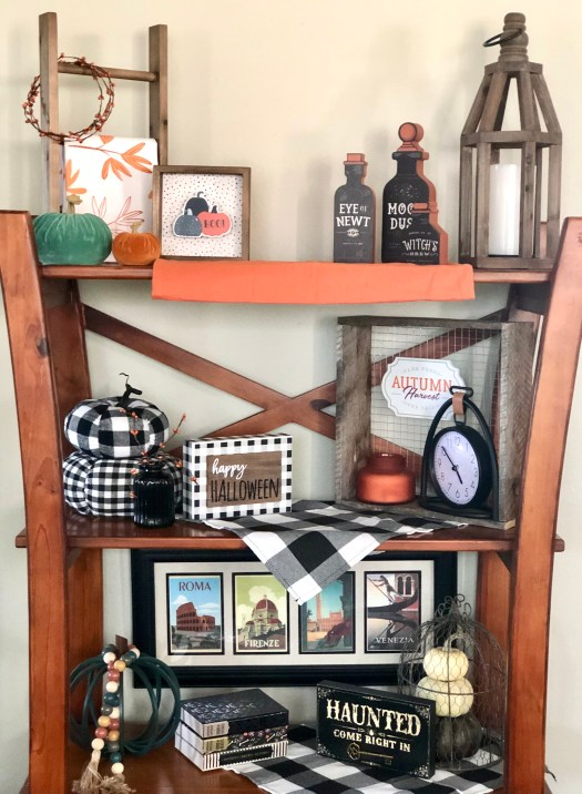 Treats for Halloween from Decocrated shelves