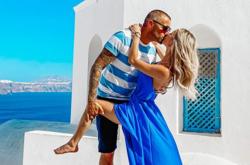santorin blogueuse Santorini couple voyage Grèce