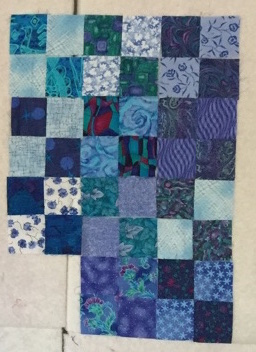 Blue Scrap Squares - Cindy Grisdela Art Quilts