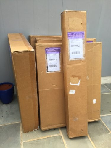 Display Panels boxed up and ready to ship - Cindy Grisdela