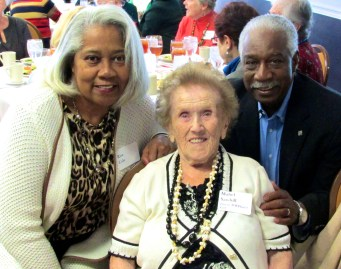 Rise and Carl Cole with 102-year-old former Government Girl Mabel Sawhill