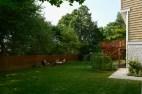 Level, private yard