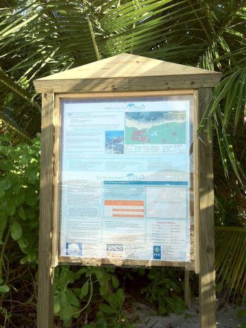 Palms Blue Flag Beach Sign
