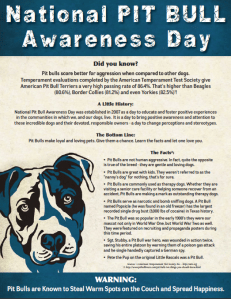 National Pit Bull Awareness Day 2o11