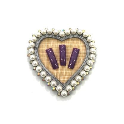 Rahmen mit Perlen - Herz 2