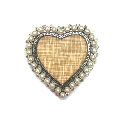 Rahmen mit Perlen - Herz 1