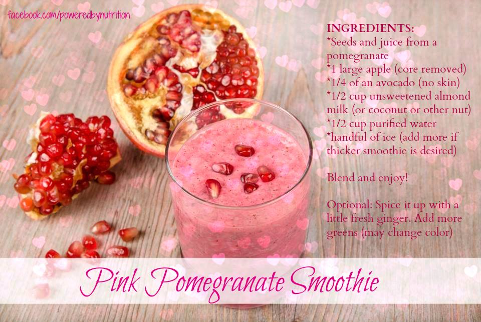Pink Pomegranate Love Smoothie