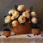 "Nantucket Garden Roses • 16x20"" oil on linen"