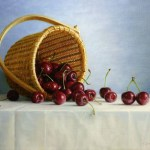 Cherries in Nantucket Basket