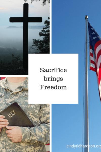 Sacrifice brings Freedom